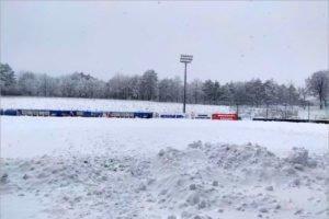 Контрольный матч брянского «Динамо» отменён из-за сильнейшего снегопада