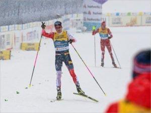 Российские лыжники заняли второе место в эстафете на ЧМ: у Алекснадра Большунова полный комплект медалей