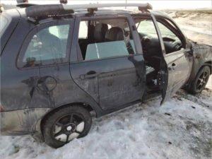 Под Комаричами перевернулась «Калина», женщина-водитель получила травмы
