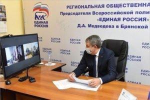 Александр Богомаз проводил ремонт и благоустройство в районах Брянской области онлайн