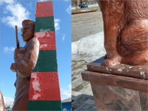 Халтурный памятник пограничникам в Новозыбкове не пережил свою первую зиму