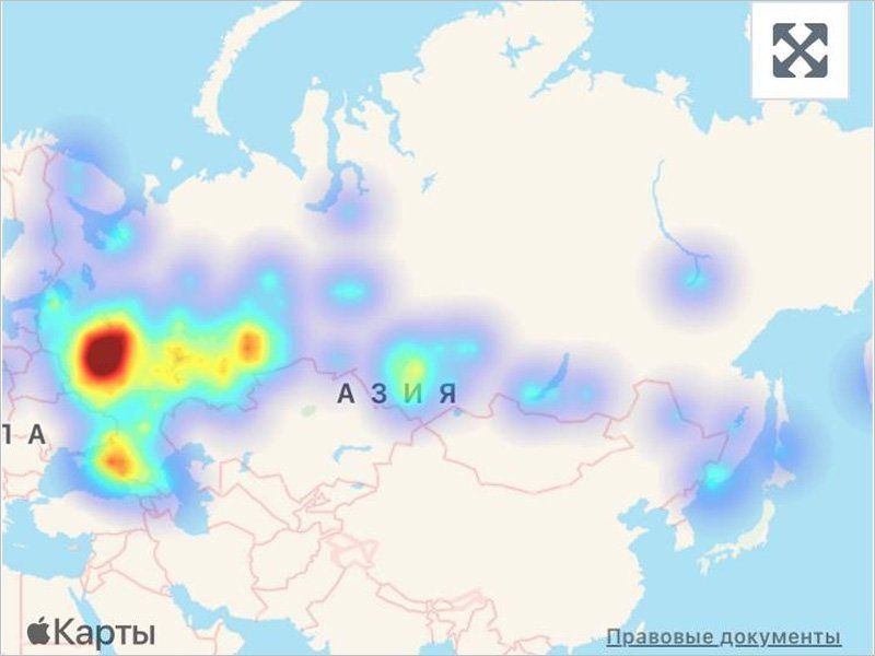 Масштабный сбой Сбера утром в понедельник затронул  практически всю Европейскую Россию