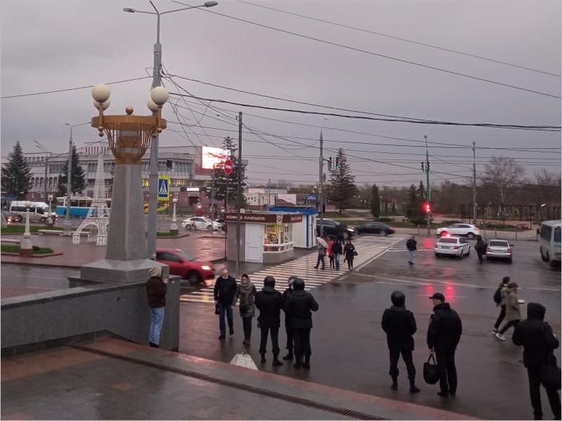 План – закон: брянская полиция продемонстрировала свою активную деятельность на несостоявшейся акции навальнистов