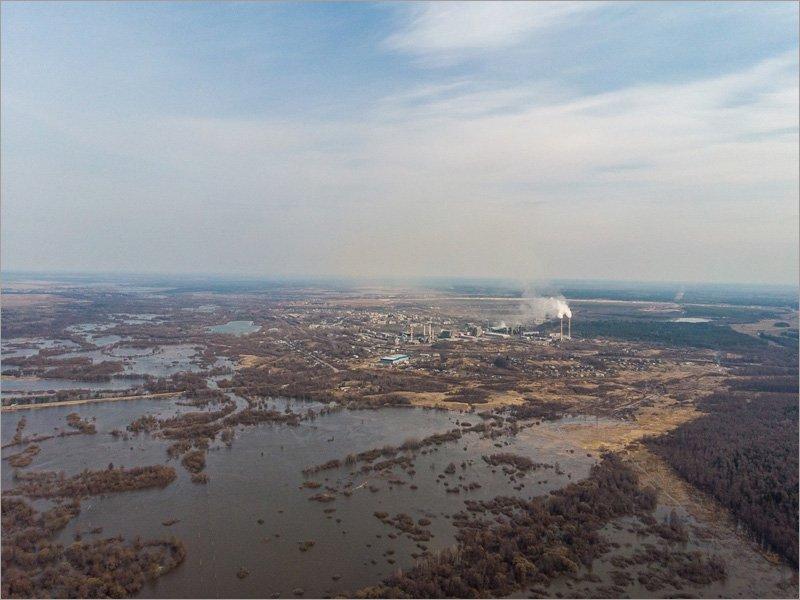 Река Болва в Брянске поднялась выше поймы больше, чем на метр