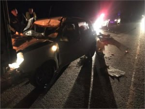 Женщина-водитель на легковушке протаранила большегруз под Новозыбковом