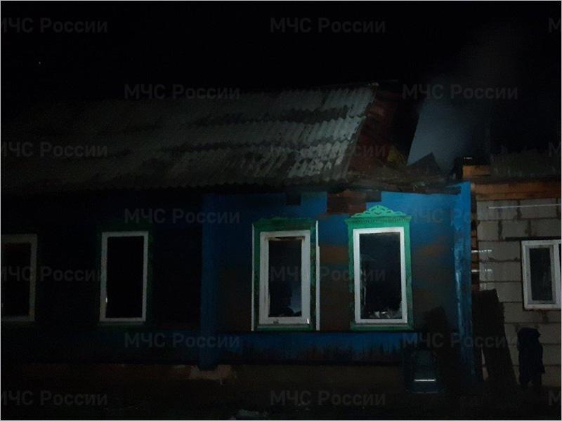В суражском селе ночью сгорел жилой дом. Жертв нет