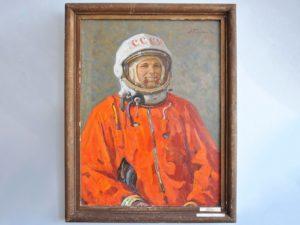Портрет Гагарина, написанный с натуры, хранится в музее в брянском селе Юдиново