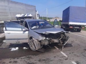 В понедельничном ДТП на «Горке нищих» в Брянске получили переломы два человека
