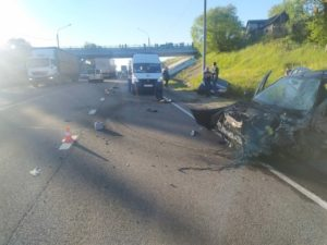 В аварии с участием машины ДПС под Брянском пострадала женщина-водитель