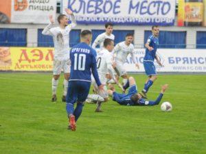 Брянское «Динамо» в последнем домашнем матче в ФНЛ проиграло песчанокопской «Чайке»