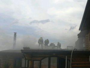 В Толмачево под Брянском горела баня «Добрыня»