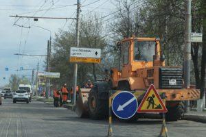 На проспекте Станке Димитрова в Брянске начали укладку асфальта
