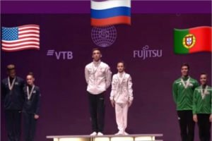 Брянский дуэт завоевал золото на первенстве мира по спортивной акробатике