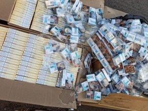 Пограничники изъяли в Брянской области контрабандные сигареты на 700 тысяч рублей