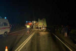 В столкновении «семёрки» и трактора на брянской трассе погибли двое, ещё двое — в том числе ребёнок — между жизнью и смертью