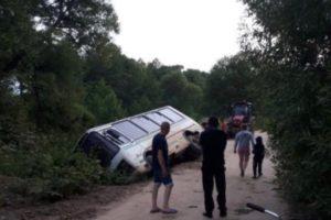 В дубровской деревне с моста упал автобус. Пострадавших нет
