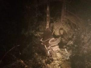 Пьяный водитель улетел с брянской местной дороги в кювет. И практически не пострадал