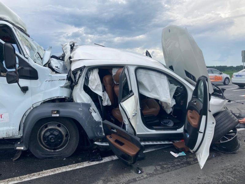В Брянской области в массовом ДТП с большегрузом погиб водитель иномарки, ехавший с ним ребёнок госпитализирован