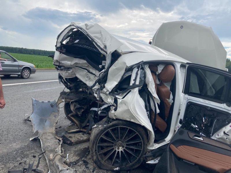 В Брянской области в массовом ДТП с большегрузом погиб водитель иномарки, ехавший с ним ребенок госпитализирован — ГИБДД