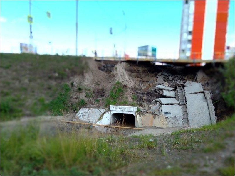 Ремонт «поехавшей» дамбы на дороге возле улицы Романа Брянского начнётся 30 июня