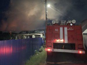 В жуковском посёлке сгорел дом, жертв нет