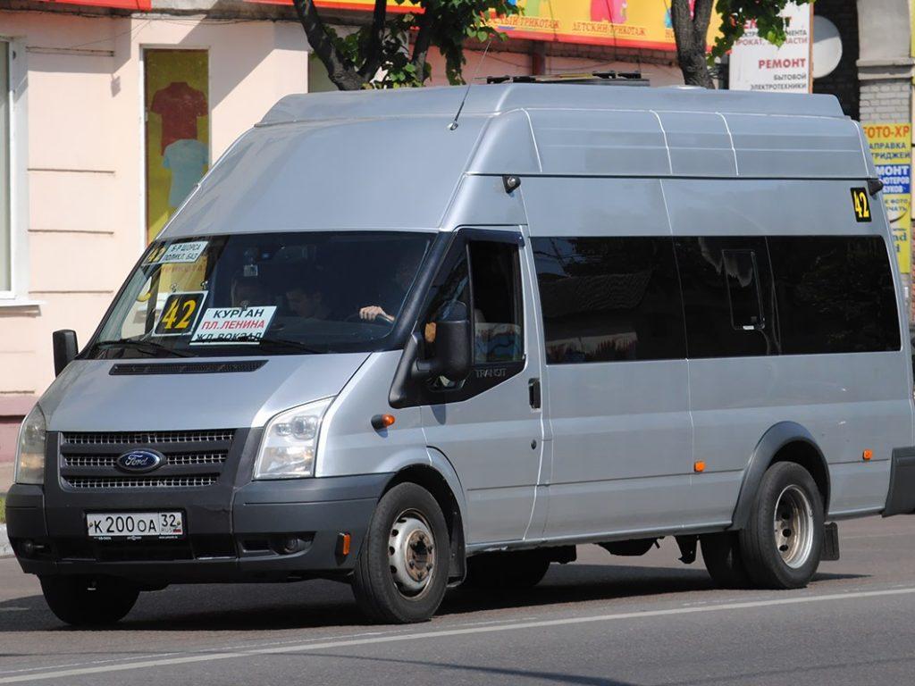 Маршрутка №42 в Брянске с 16 июля пойдет через Крахмалёва, Самолет и ТЦ «Аэропарк»
