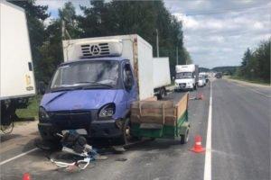 На трассе «Брянск-Дятьково» грузовик раздавил мотоблок