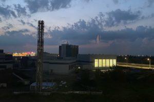В брянском Дворце единоборств впервые включили освещение