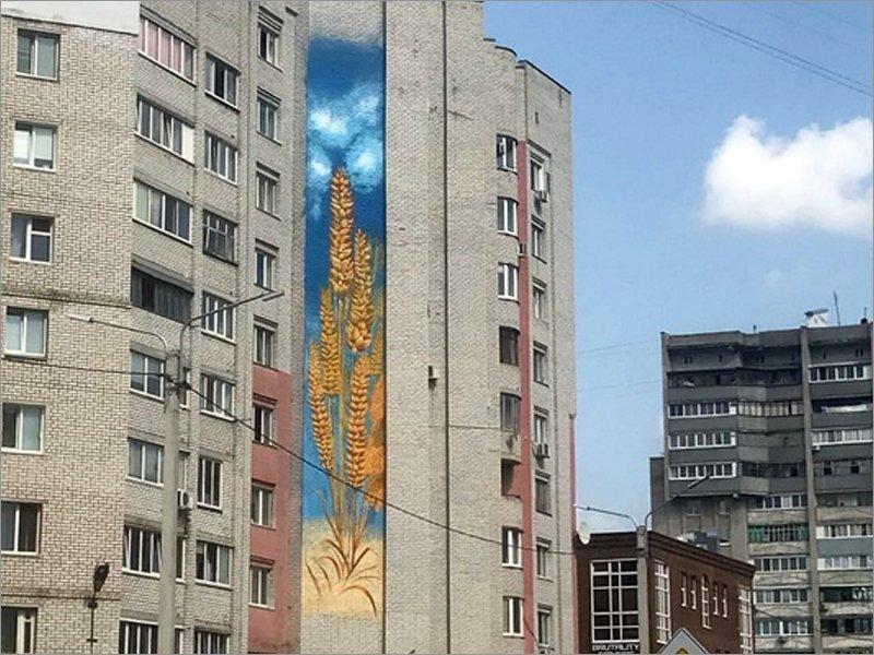 Над Россельхозбанком в Брянске появился тематический мурал