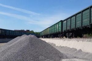 За полгода на брянские железнодорожные станции поступило почти миллион тонн щебня для строительства автодорог