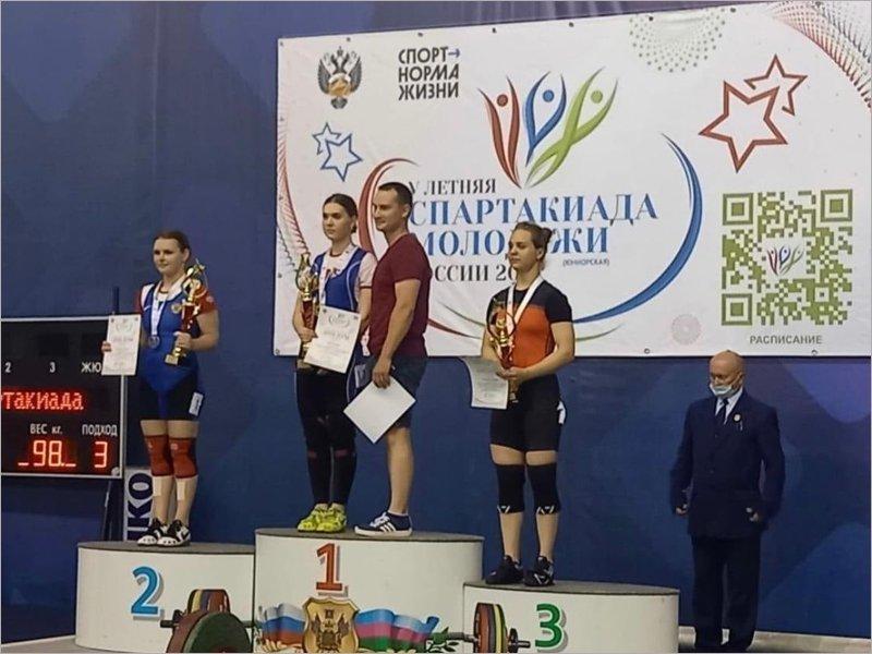 Брянская тяжелоатлетка стала чемпионкой спартакиады молодёжи России