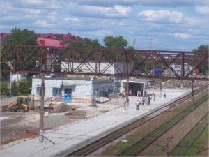 На вокзале Брянск-Льговский полным ходом идёт ремонт «главной» платформы