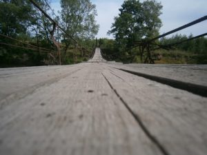 Хотылёвскому мосту, включённому в число красивейших мест планеты, требуется ремонт