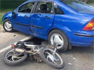 За две недели на брянских дорогах в мото-ДТП погибли пять человек