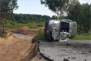 На ремонтируемой местной дороге в Навлинском районе погиб водитель Hyundai Getz
