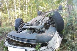На местной брянской дороге Audi улетела в кювет. Изломанный водитель — в больнице