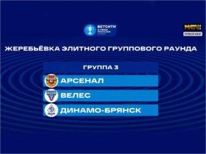 Брянское «Динамо» сыграет в Кубке России с «Арсеналом» и «Велесом»