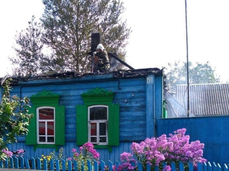 При пожаре в селе Климовского района погибла 81-летняя женщина
