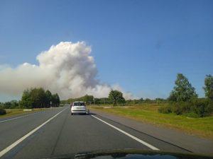 В Почепском районе нестандартные хозработы приняли за большой пожар