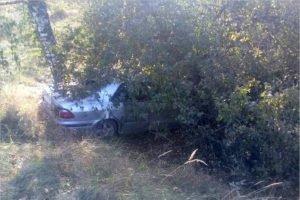 Под Жуковкой легковушка с мамой за рулём улетела в кювет, травмы получила вся семья