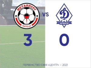 Динамовская молодёжная команда потерпела крупное поражение в Липецке