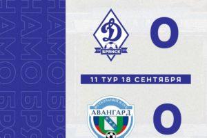 Брянское «Динамо» завершило первый круг первенства ФНЛ-2 нулевой домашней ничьей