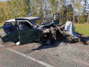 Под Почепом в Брянской области иномарка вылетела в лоб КамАЗу, один человек погиб, двое — в тяжёлом состоянии