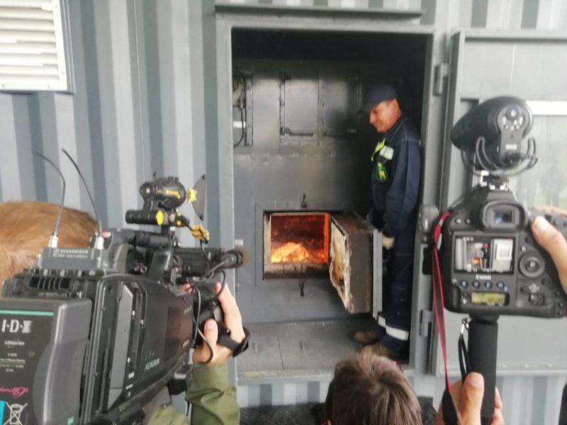 В Брянской области сожгли тонну кокаина. В присутствии губернатора