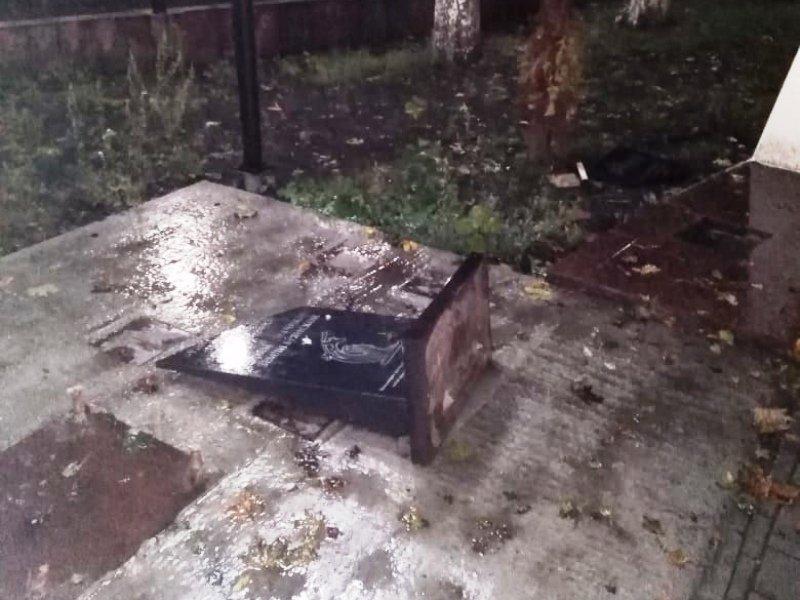 Брянская полиция сообщила обстоятельства повреждения памятника в сквере Камозина