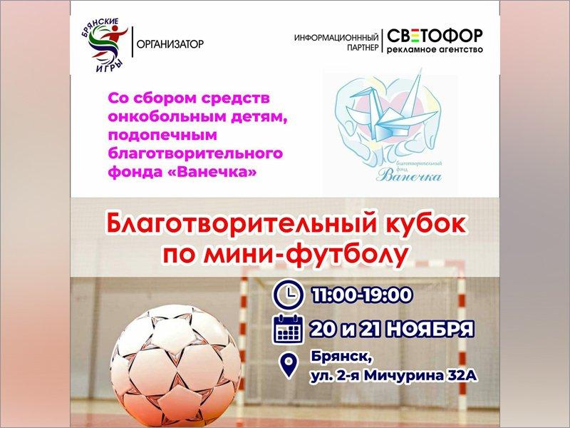 В Брянске пройдёт футбольный турнир в помощь онокобольным детям