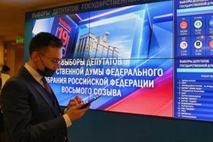 По итогам обработки 25% протоколов лидирует «Единая Россия» — 44,25%