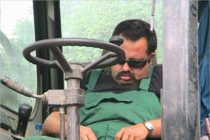 Водитель погрузчика в Стародубе попался на пьяной езде и лишился прав