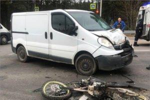 Водитель мопеда сломал себе шею в ДТП на объездной дороге вокруг Брянска