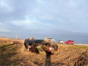 Водитель «Приоры» сломал себе шею в ДТП-перевёртыше недалеко от Погара